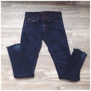 J Brand Frayed Ankle Skinny Jeans
